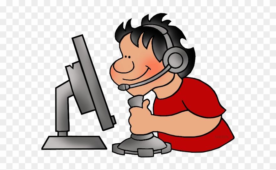 Clipart person computer.