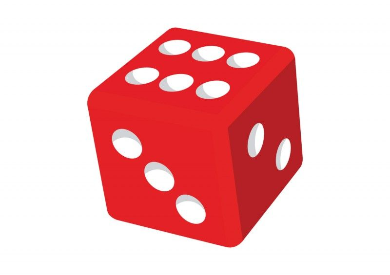 Red dice clipart.