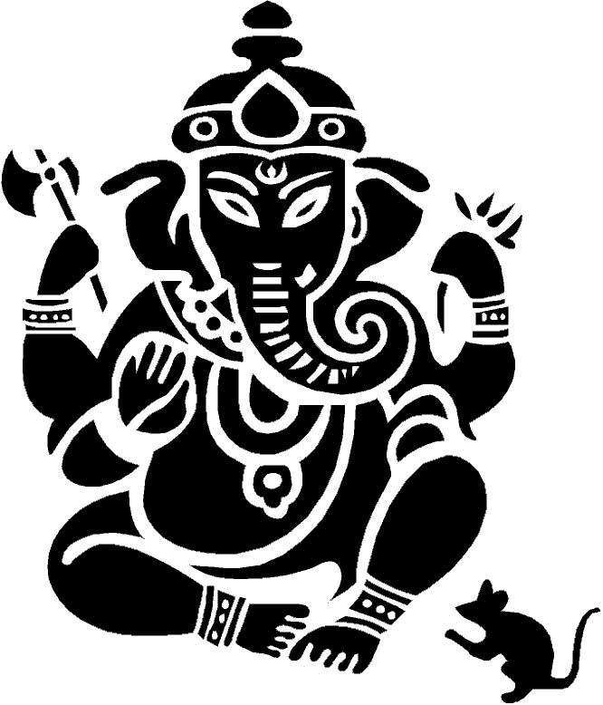 Ganesha logo clipart.