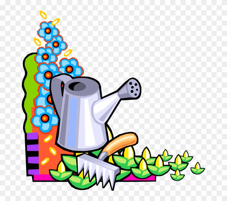 Vector Illustration Of Watering Can Or Watering Pot