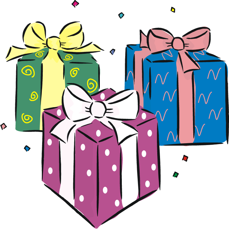 Gifts clipart birthday.