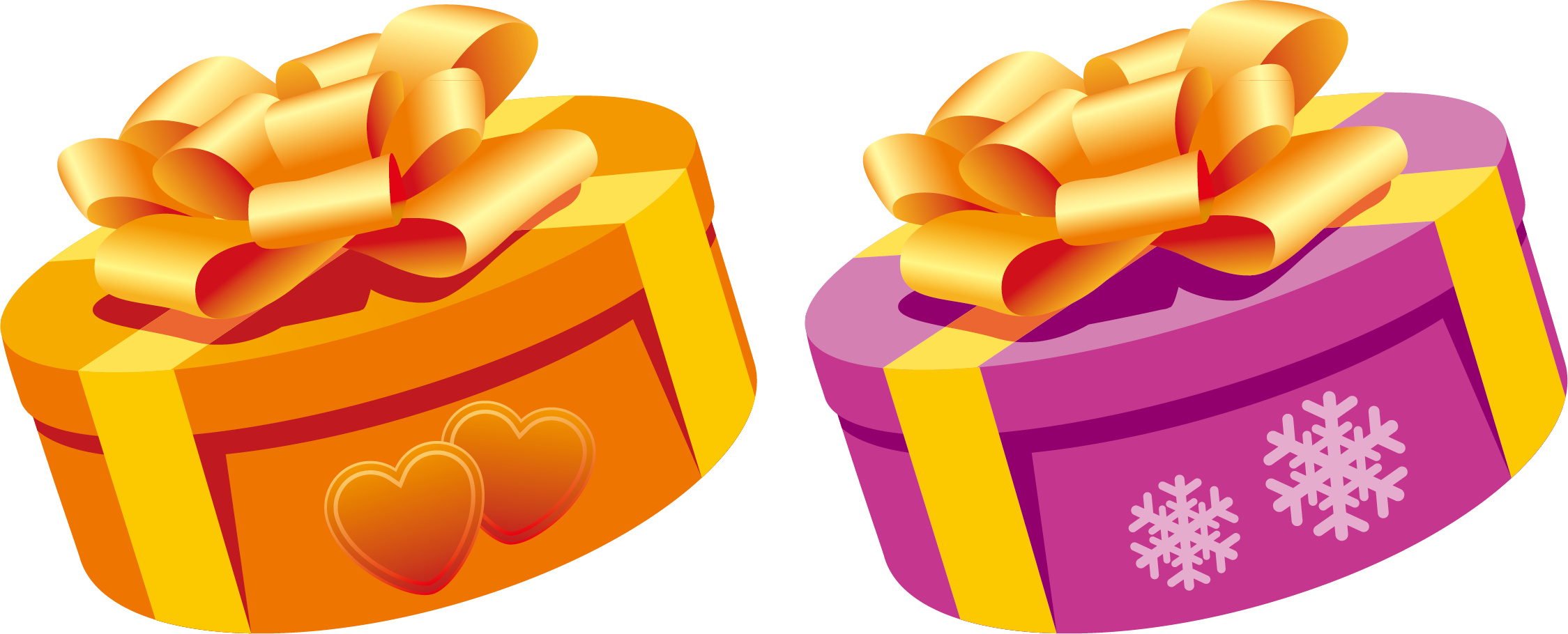 Gifts clipart orange.