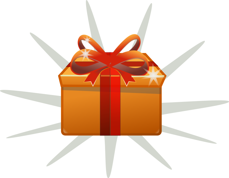 Gift box clipart.
