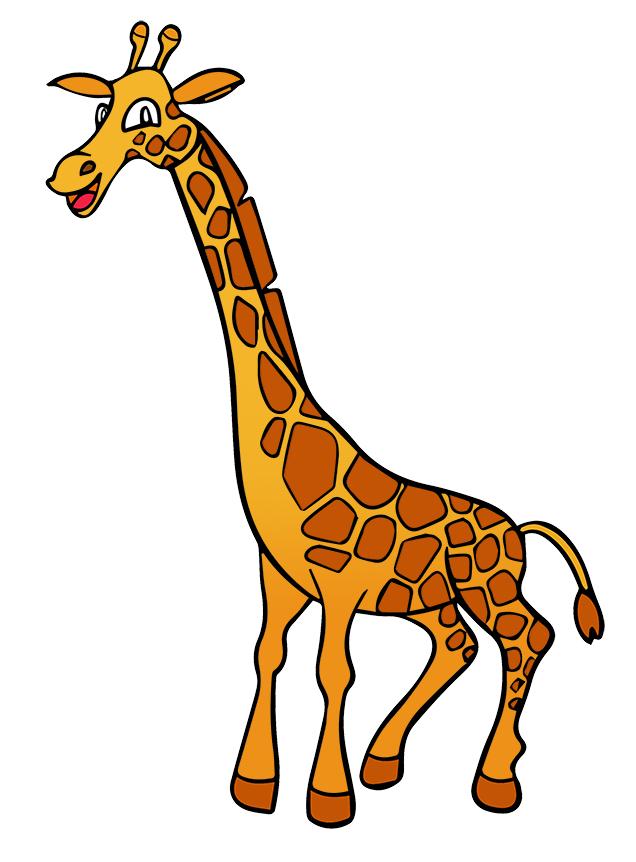Giraffe clipart terrestrial.