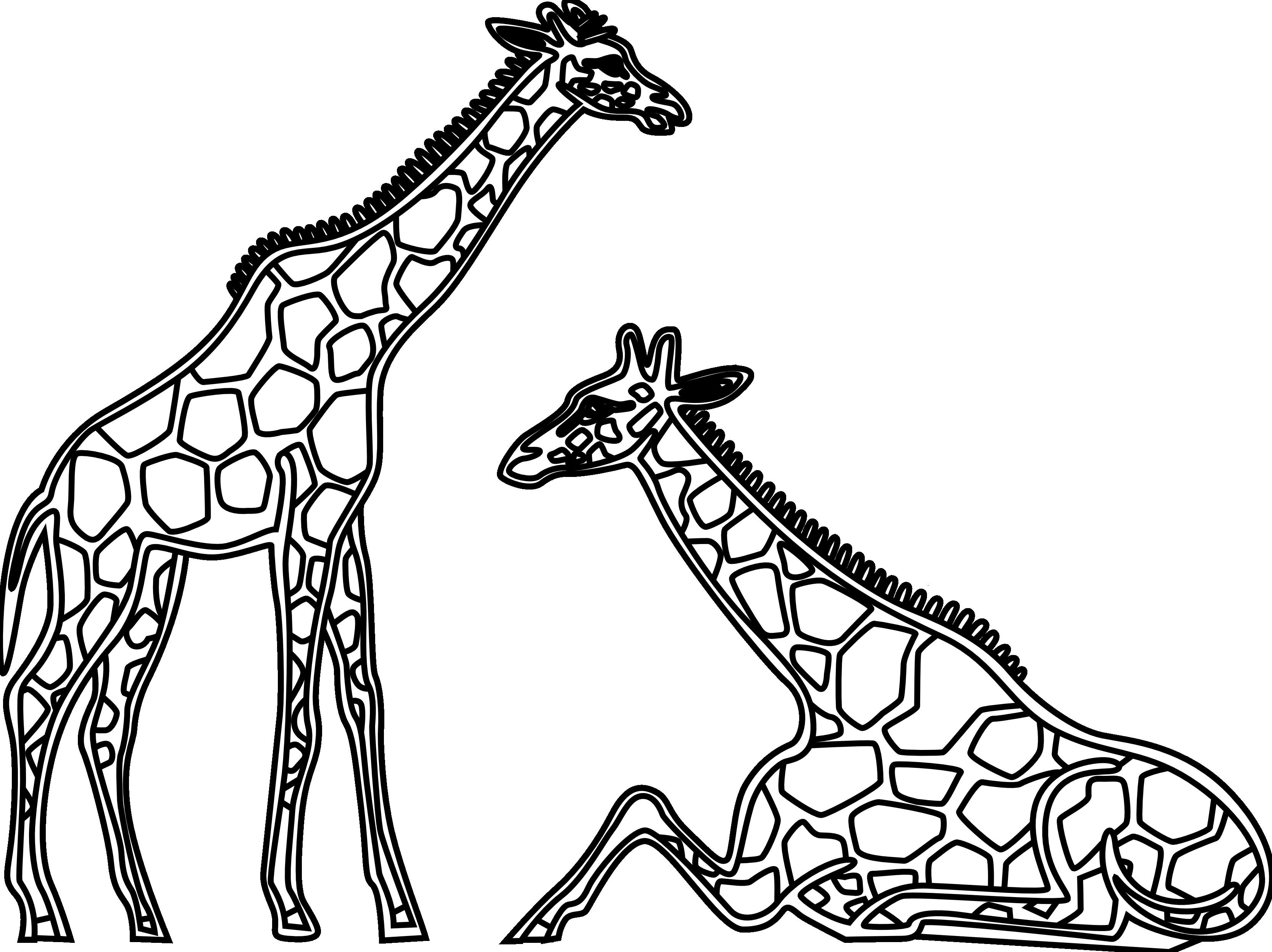 Giraffe clipart black.