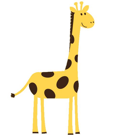 Giraffe clipart clear.
