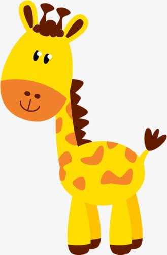 Cute giraffe png.