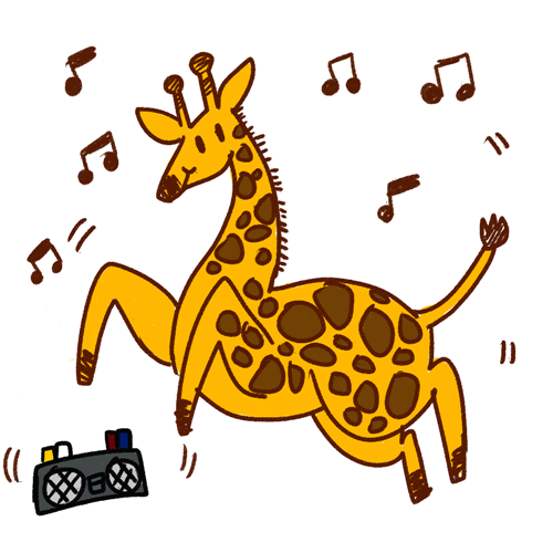Giraffe cartoon clipart.