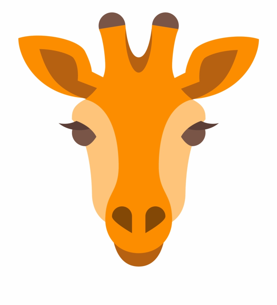 Vector giraffe head.