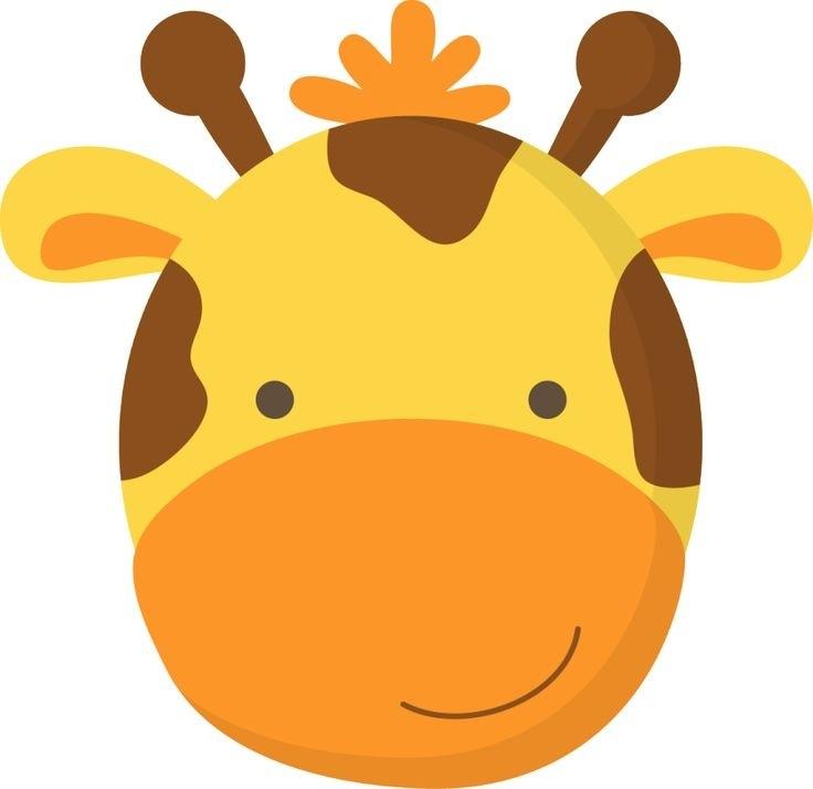 Giraffe head clipart.