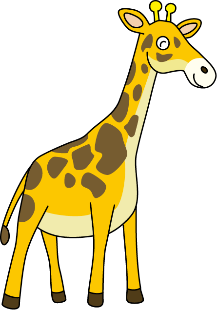 Free giraffe clipart.