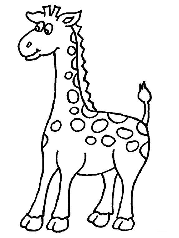 Cute giraffe coloring.