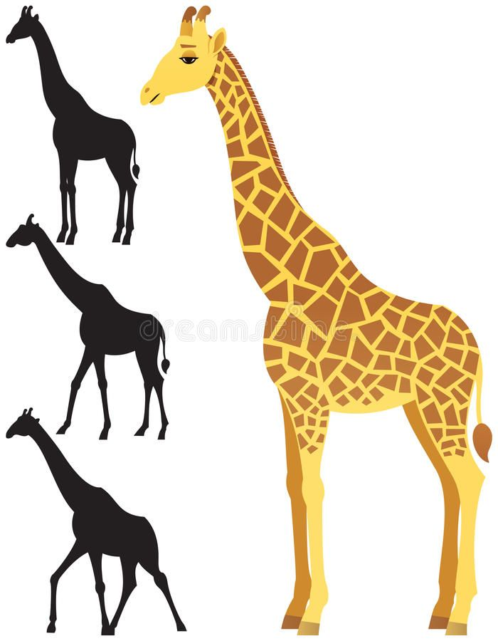 Giraffe clipart background.