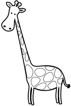 Simple giraffe drawing.