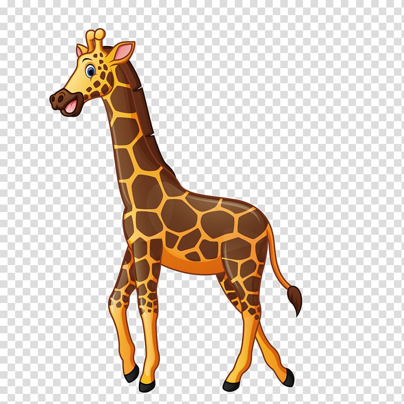 Giraffe cartoon illustration.