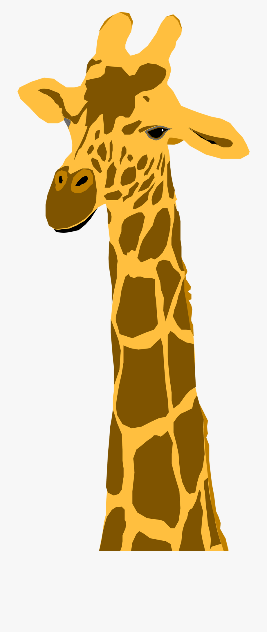 Giraffe clipart orange.