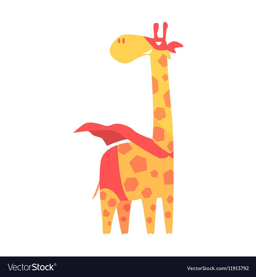 Giraffe animal dressed.