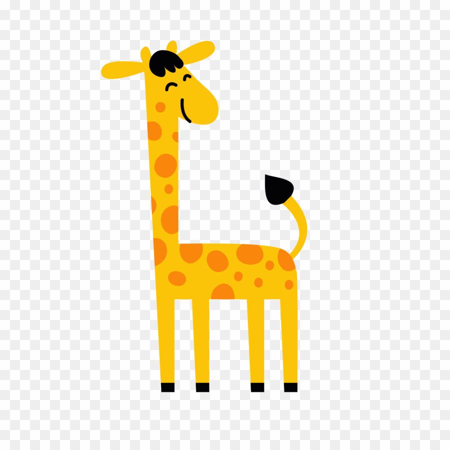 Cartoon yellow giraffe.