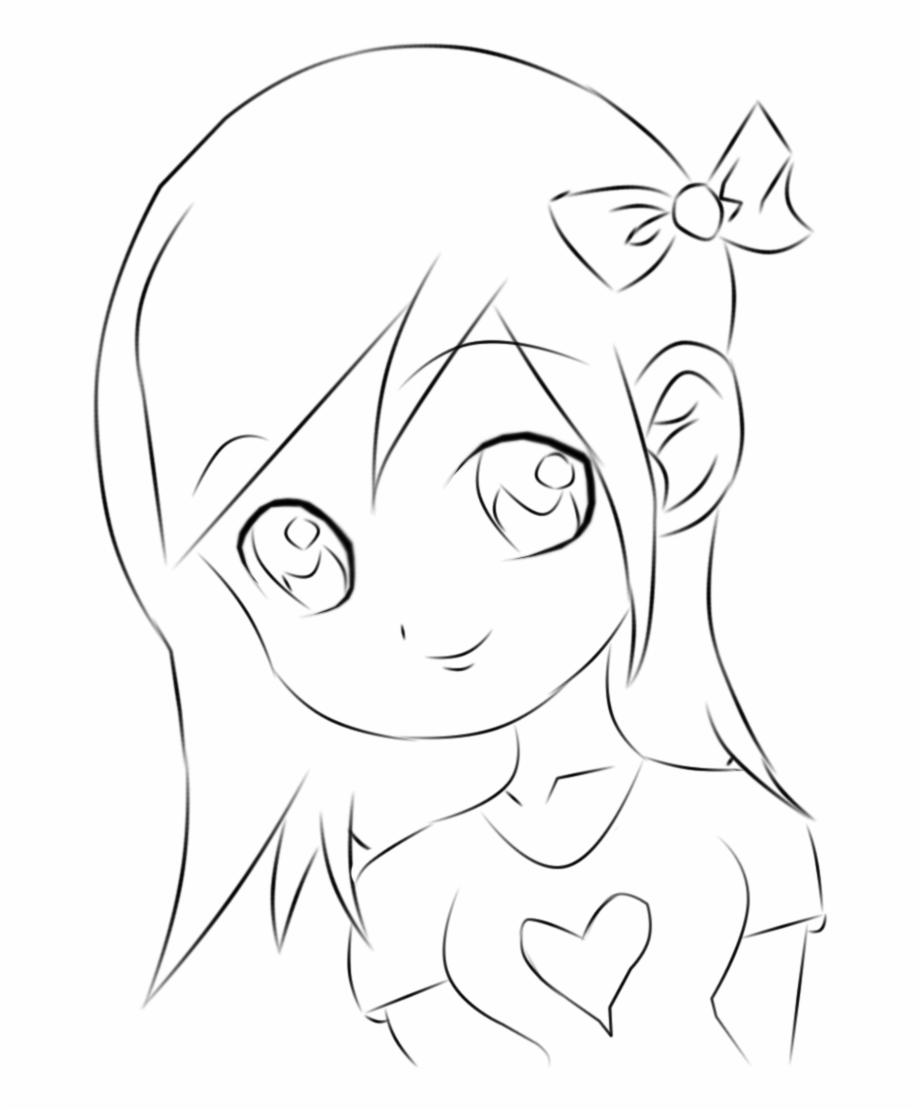 Anime girl clipart.