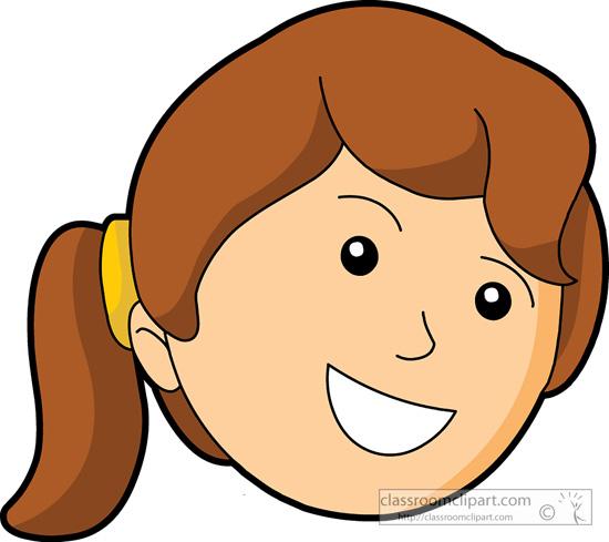 Happy face girl.