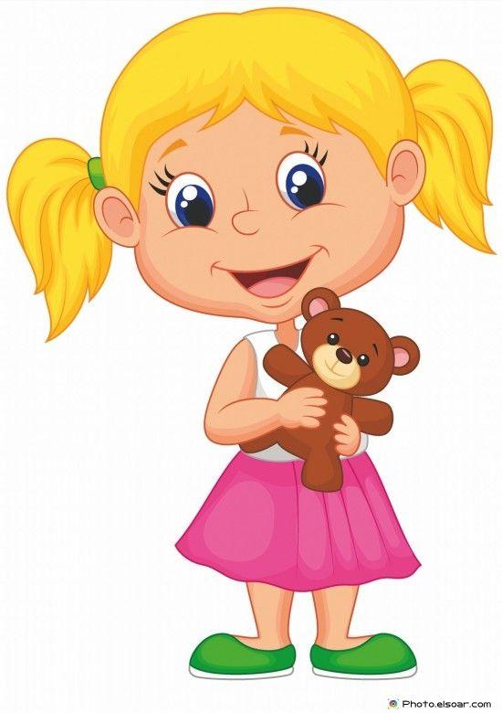 Little girl holding.