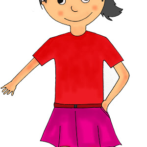 Girl standing png.