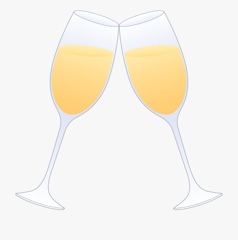 Glasses champagne clinking.
