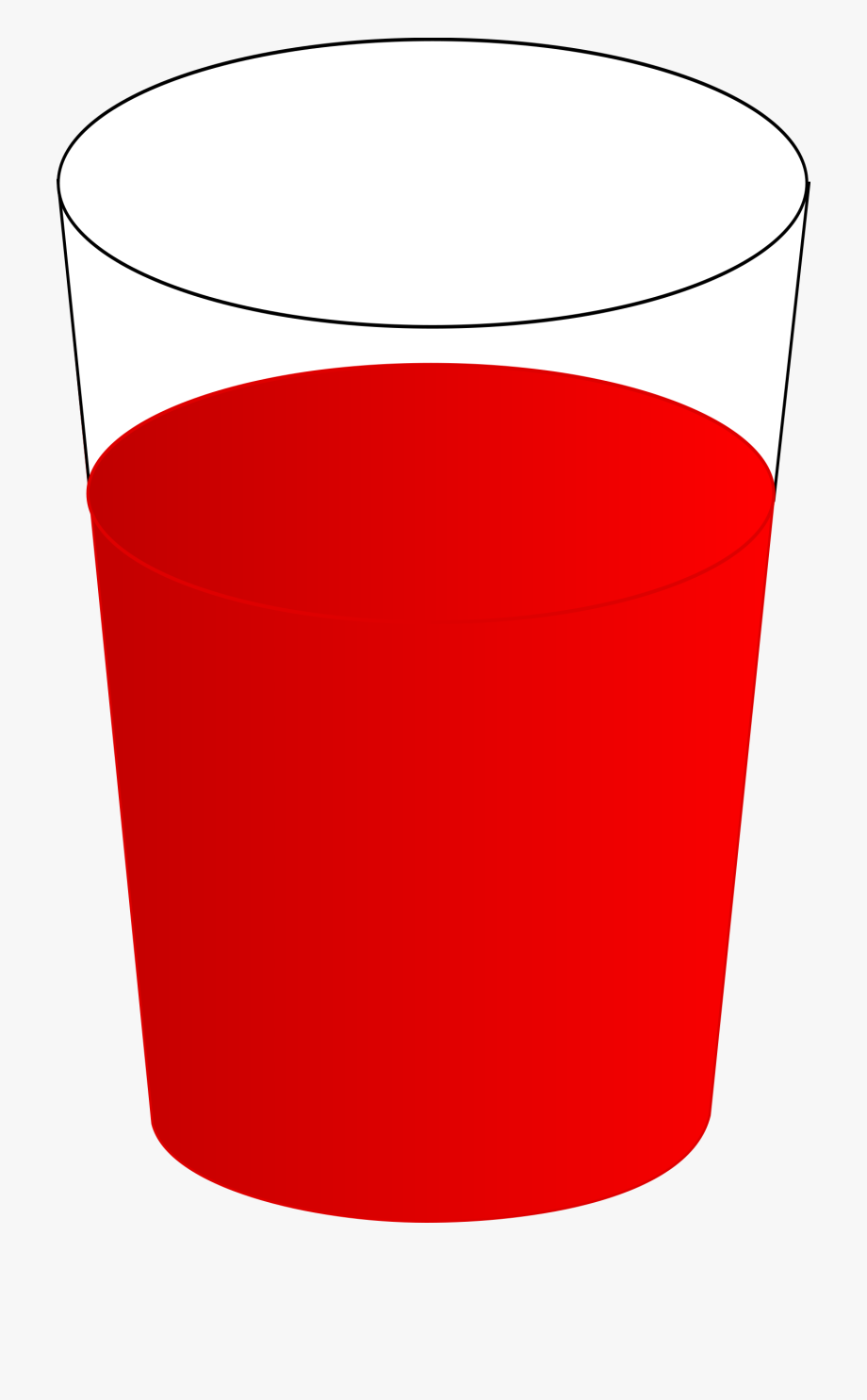 Drinking glass with.