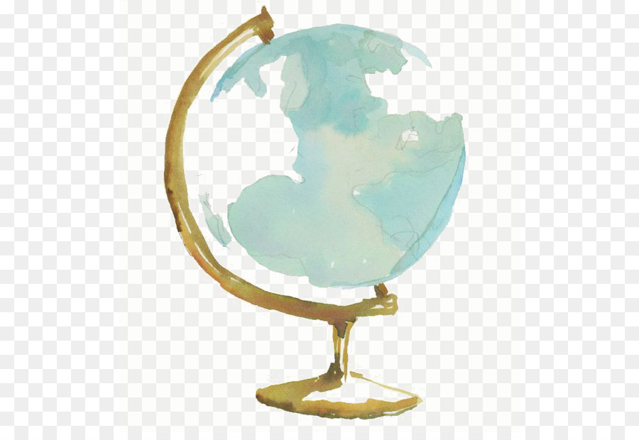 Watercolor Globe at PaintingValley