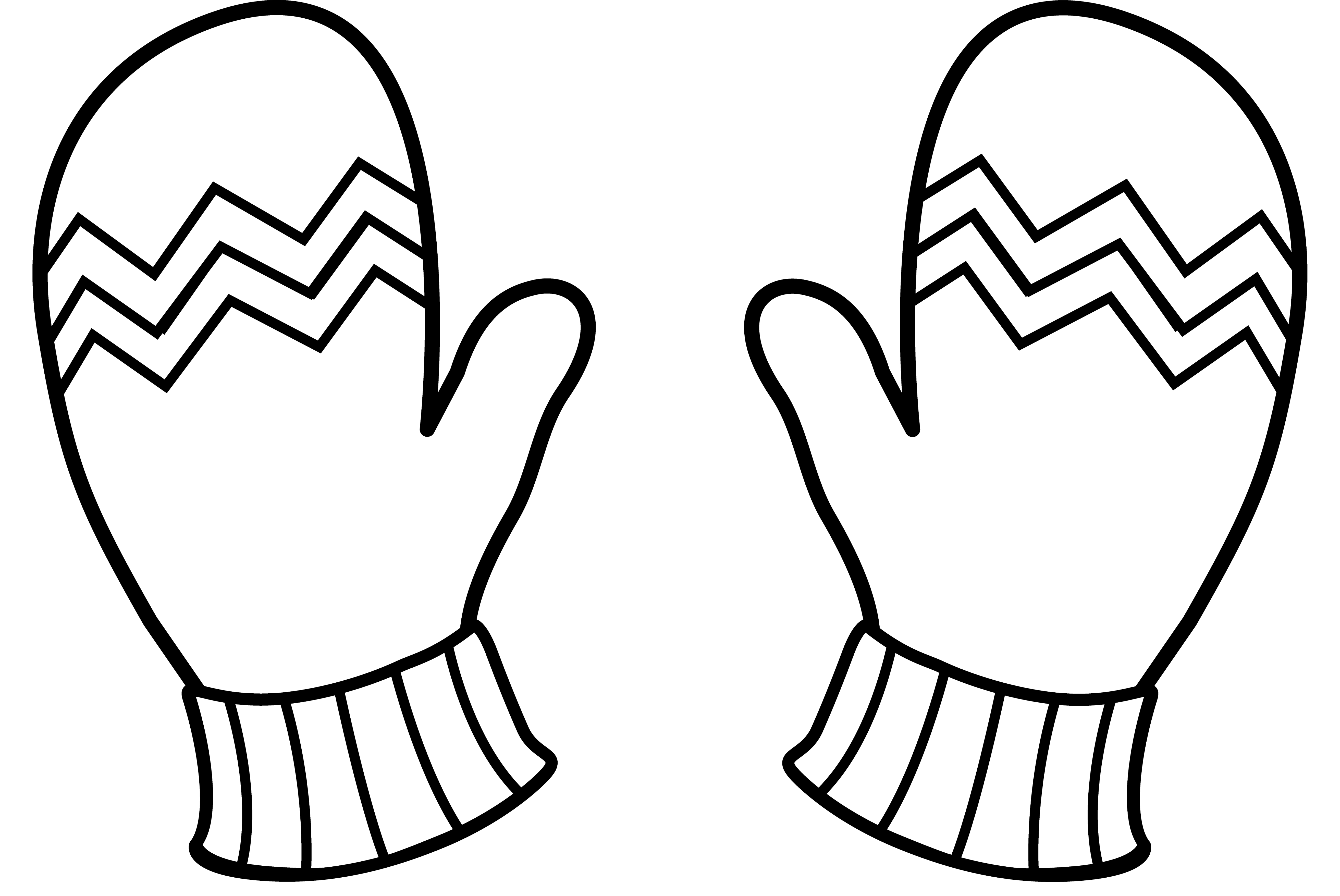 Glove clipart outline.