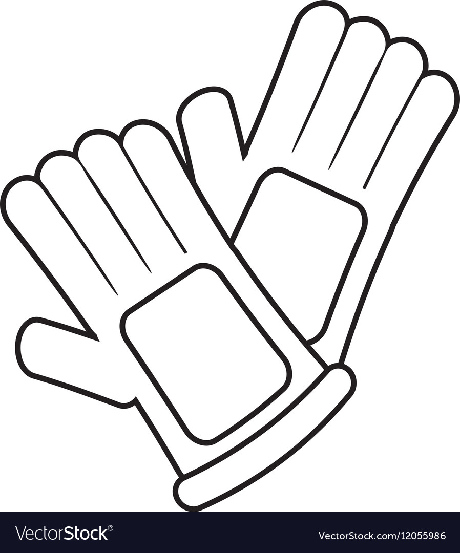 Glove outline clipart.
