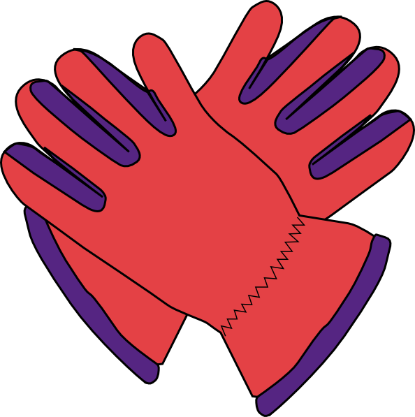 Winter gloves clipart.