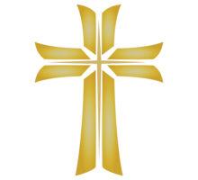 Gold cross clip.
