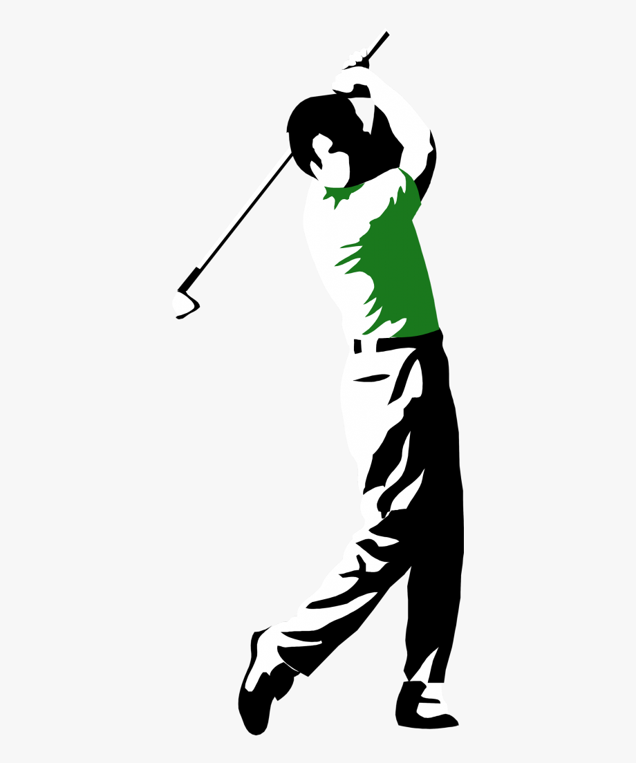 Collection man golfing.
