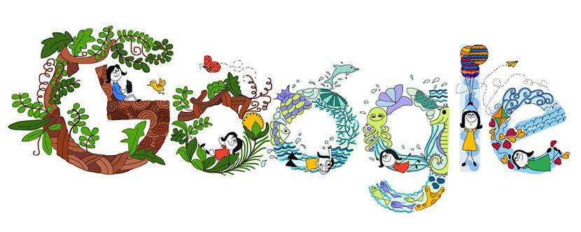 Doodle google childrens.