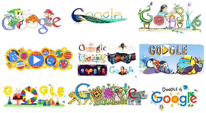 Google doodles turn.