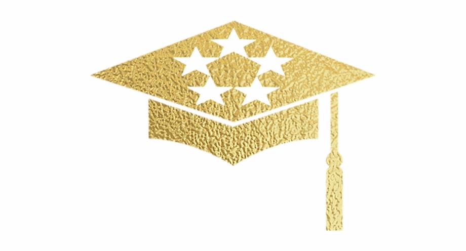 Grad cap gold.