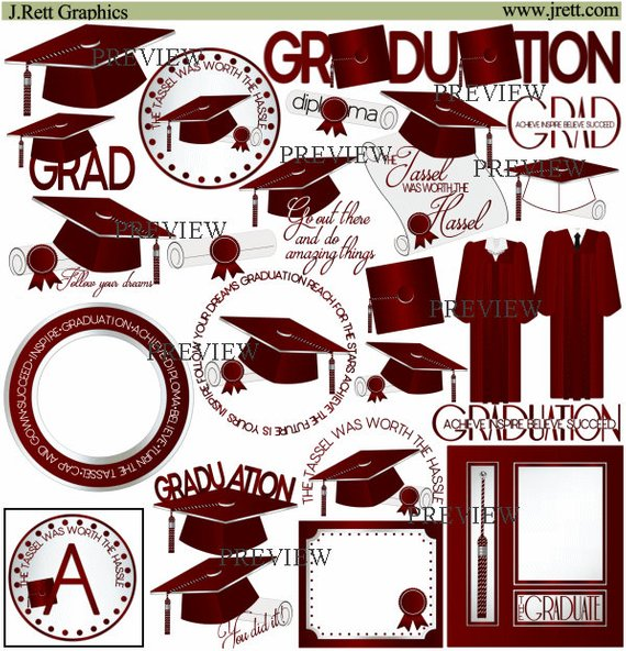 Maroon graduation clipart.