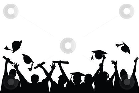Graduation celebration stock.