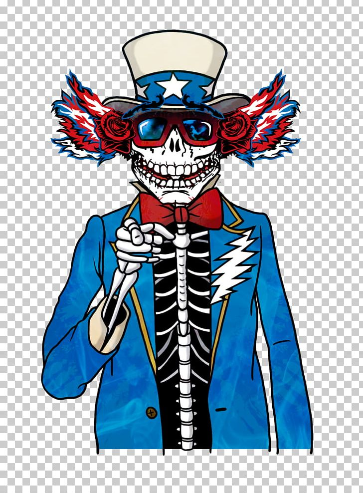 Uncle sam skeleton.