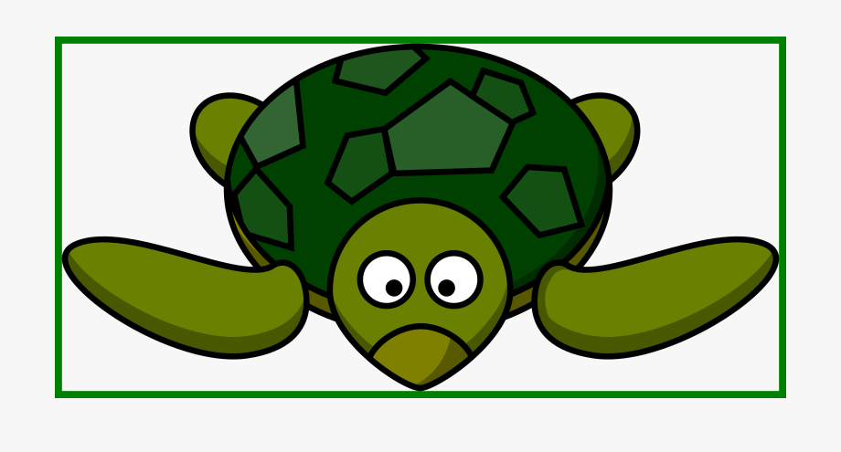 Cute Turtle Clipart Black And White