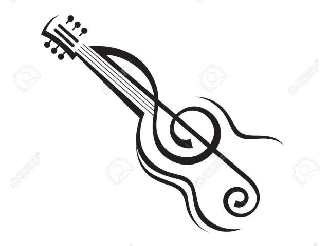 guitar clipart abstract