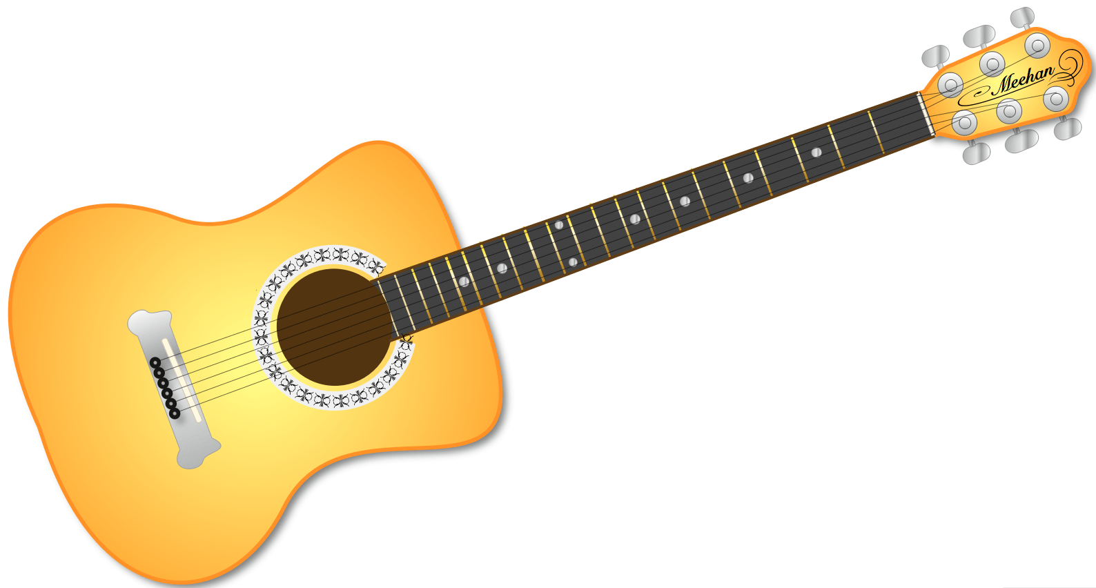 Country guitar cliparts.