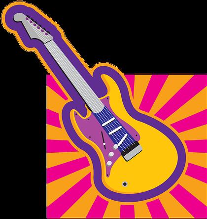 Clipart retro guitar.