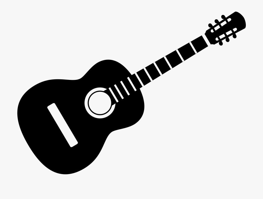 Guitar Clip Art Black And White