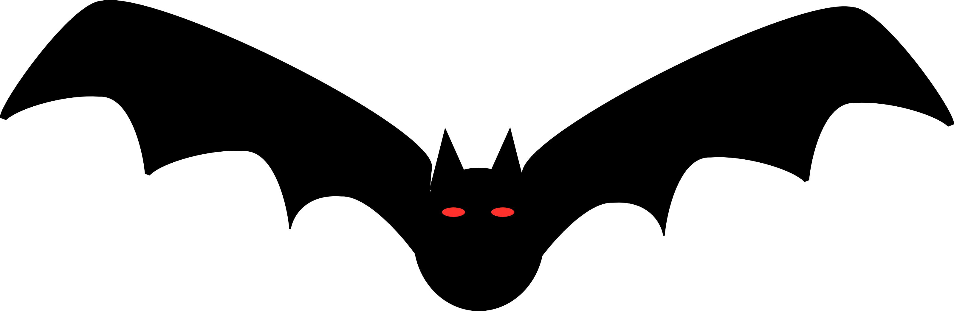Halloween bat clipart.