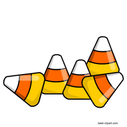 Free candy corn pieces clipart