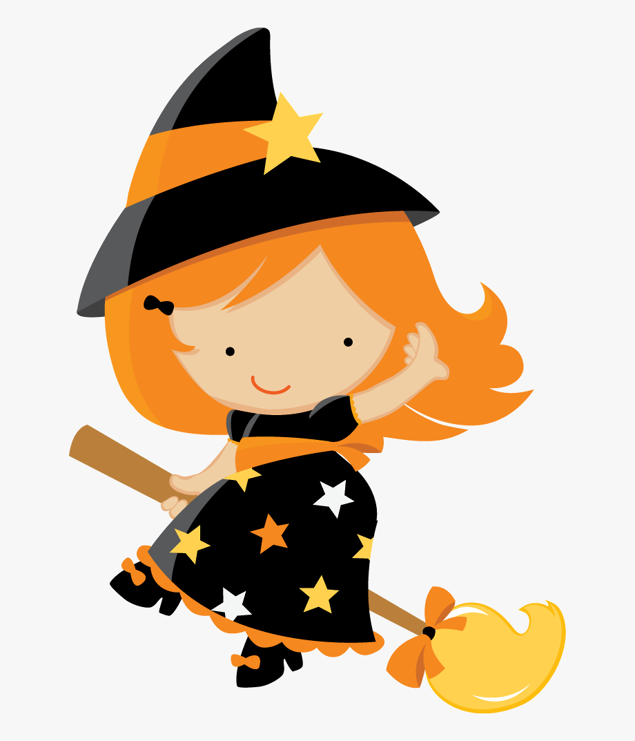Halloween baby witch.