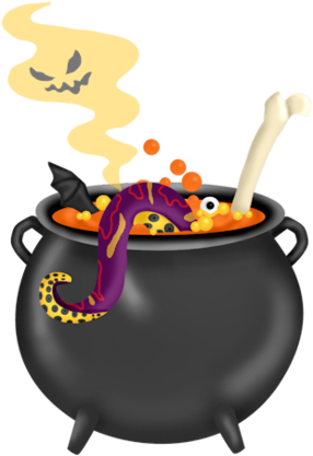 HALLOWEEN CAULDRON CLIP ART