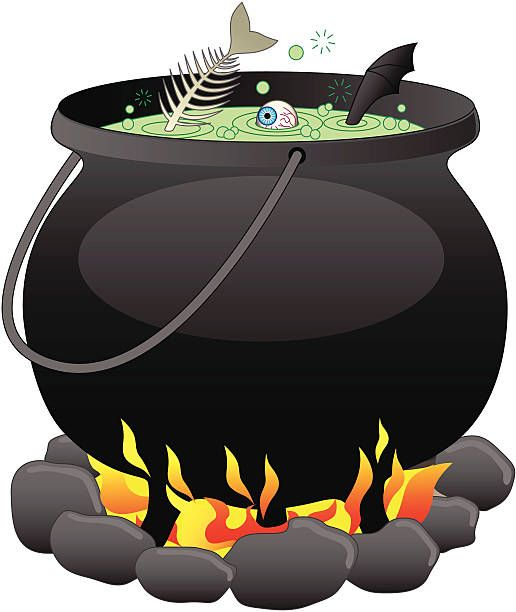 Illustration witchs cauldron.